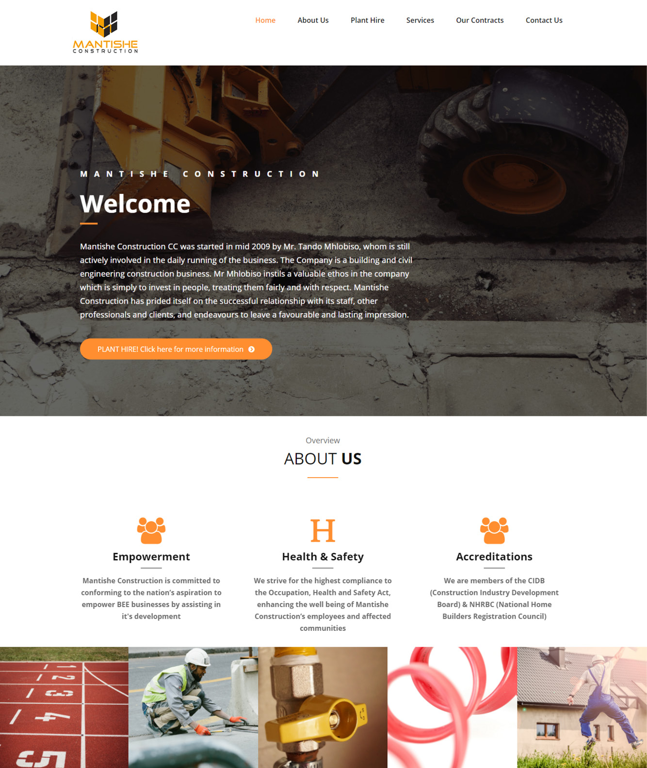 Mantishe Construction Website Design