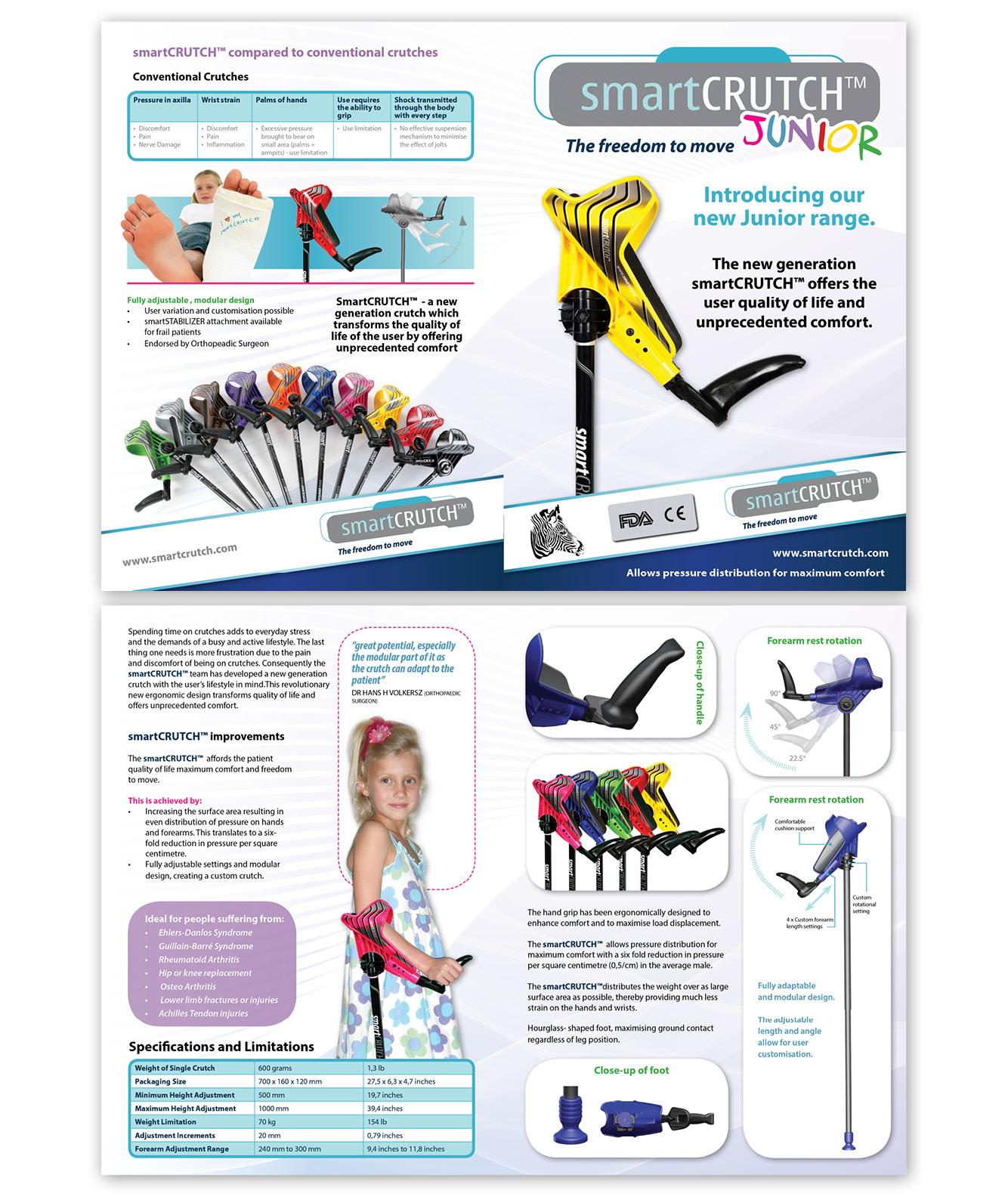 Smart Crutch A5 Brochure