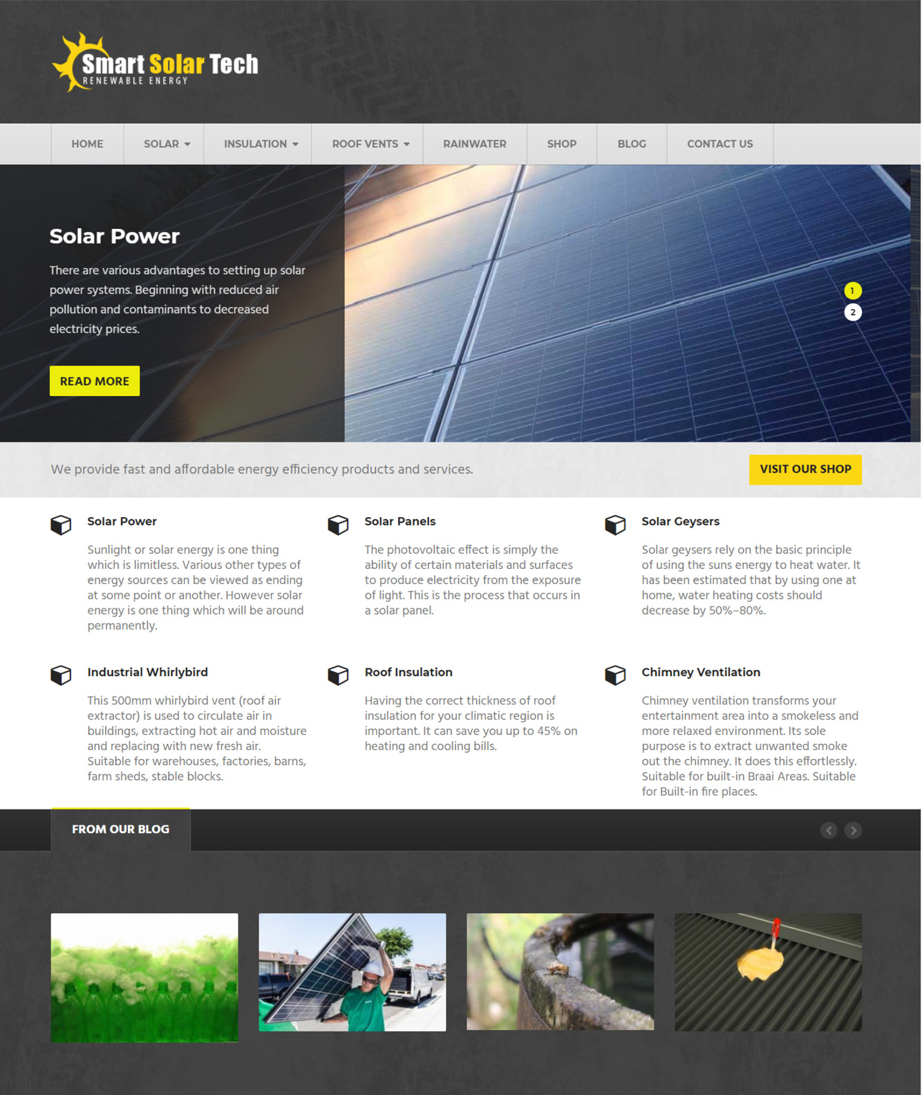 Smart Solar Tech Website Design