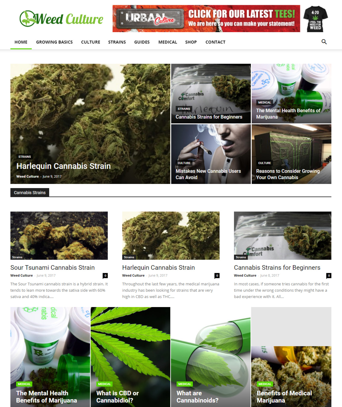 Weed Culture Website Design