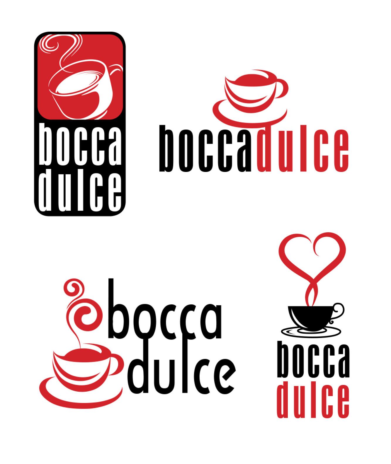 Bocca Dulce Coffee Shop Logo Design