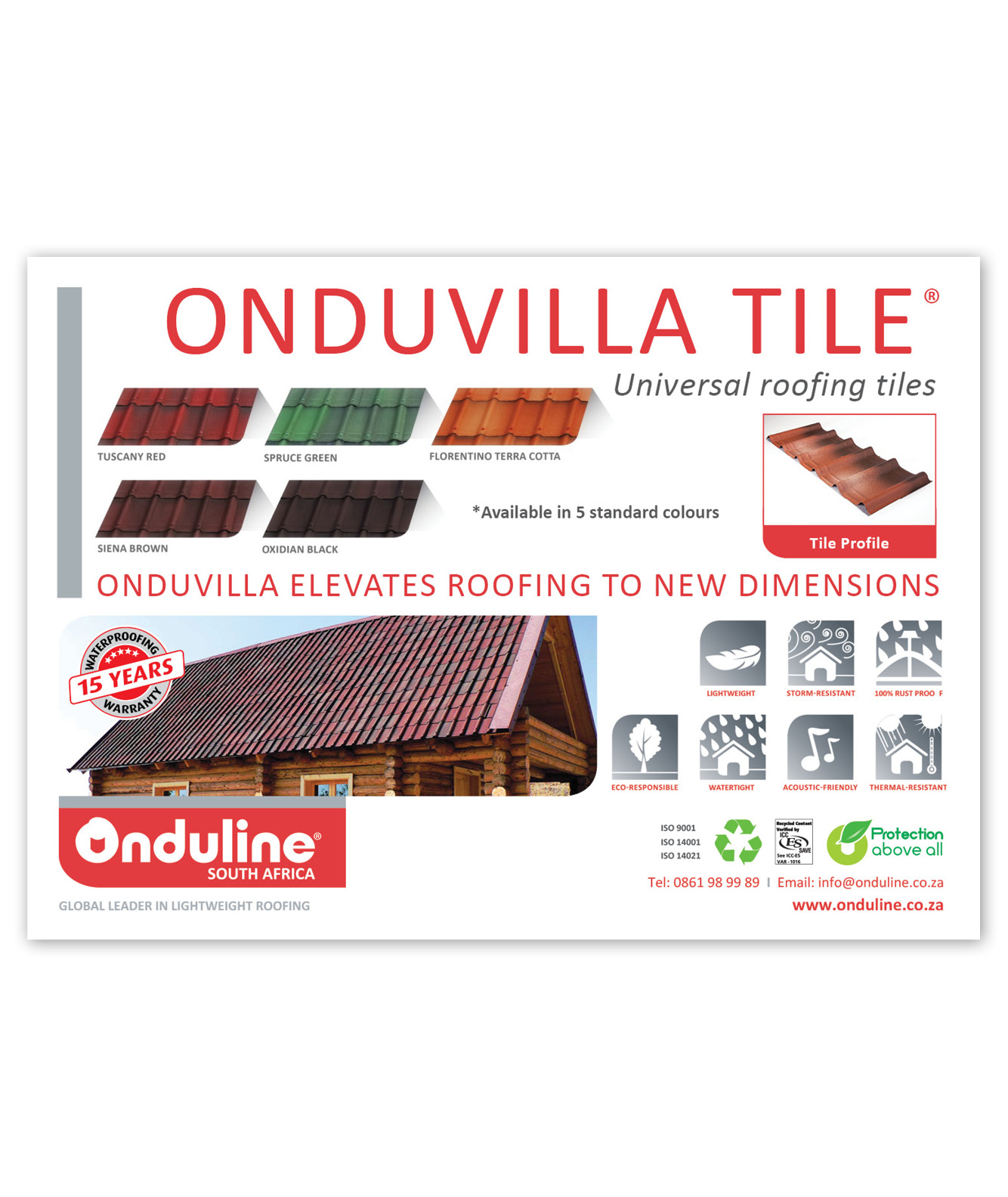 Onduline Advert Design