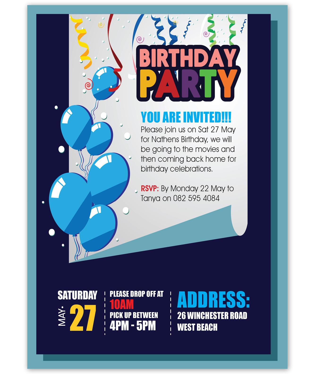Birthday Party Invitation Design