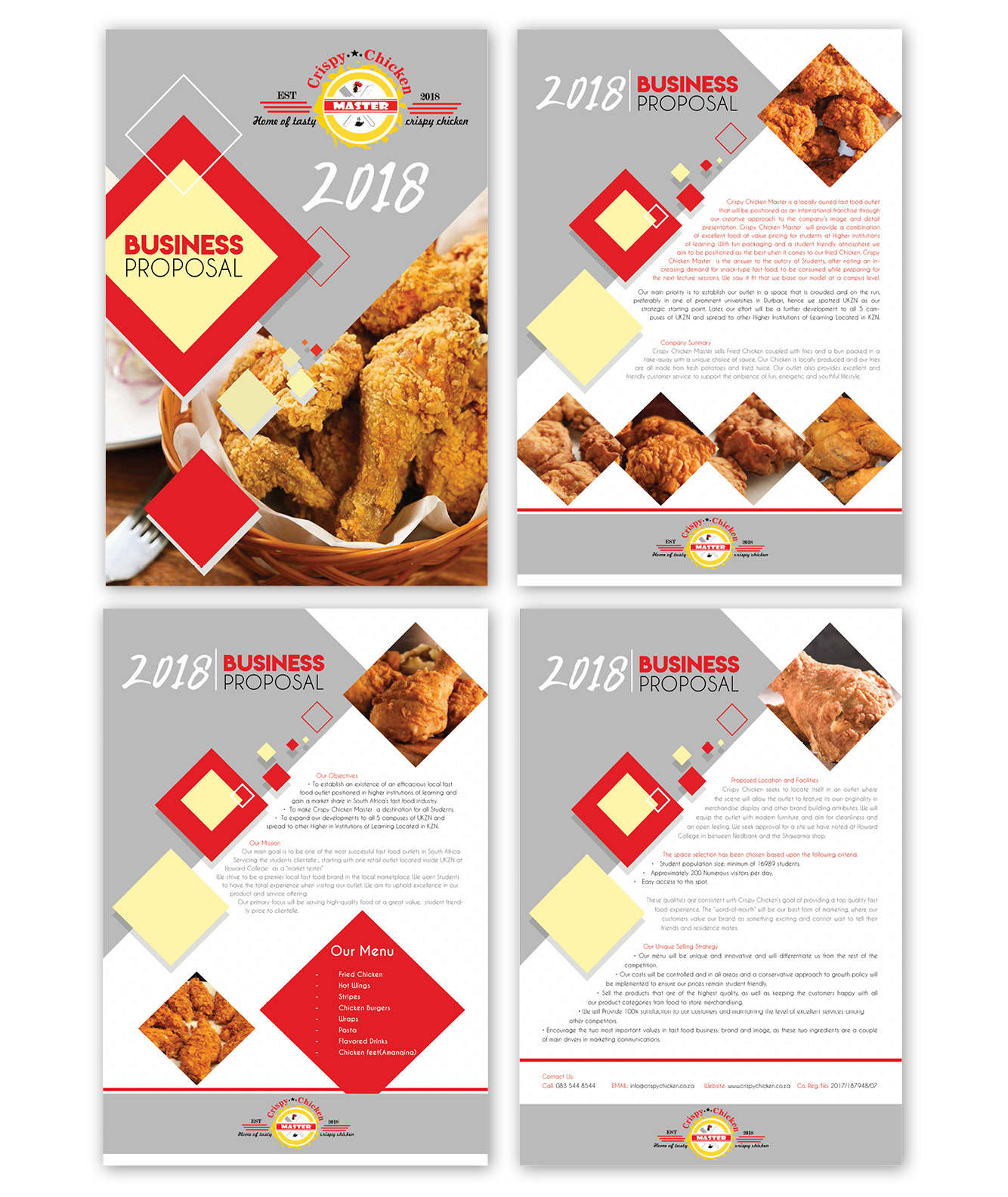 Crispy Chicken Company Profile Design